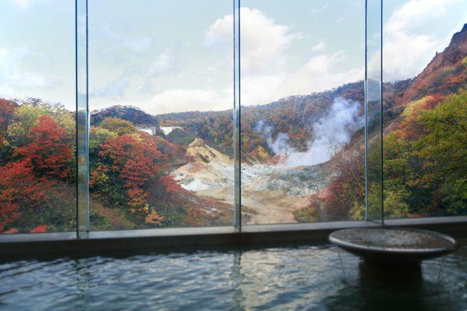 """豊富な湯量と9種類の泉質はまさに""""温泉のデパート""""「登別」"""