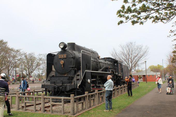 懐かしのD51形蒸気機関車(デゴイチ)が展示