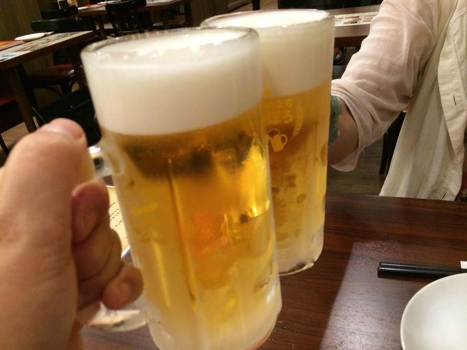 札幌ビール工場直送の生ビールで乾杯!