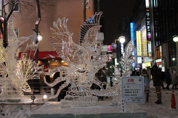 氷彫刻コンクール作品を鑑賞しよう!