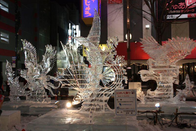 東京以北最大の歓楽街「さっぽろ雪まつり・すすきの会場」で氷を楽しもう!