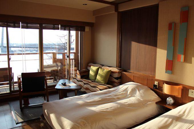 眺望の良い「十勝川温泉 第一ホテル」