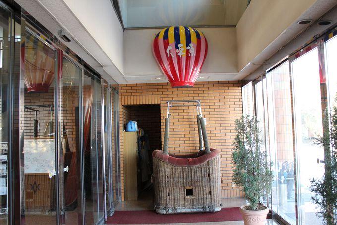 早朝中庭で「熱気球」のイベントも!