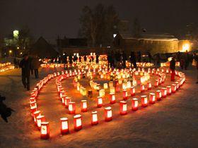 1万5千個の灯りがともる!北海道「たきかわ紙袋ランターンフェスティバル」