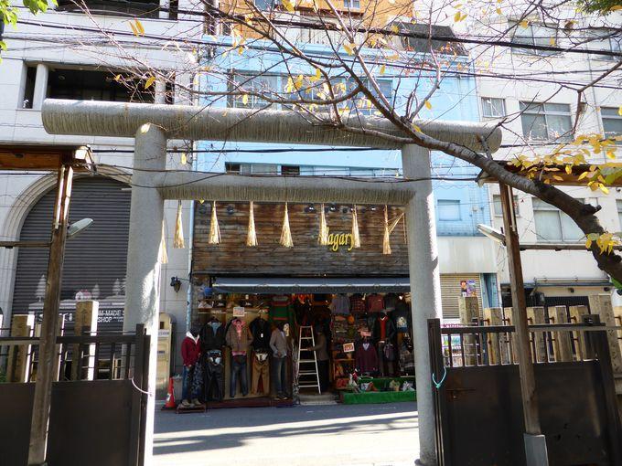御津宮の周りは沢山のお店があります。