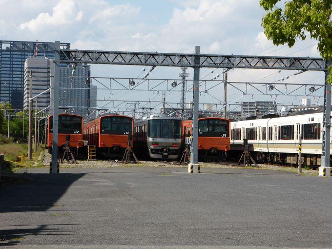 森ノ宮駅すぐ「JR西日本森ノ宮電車区」