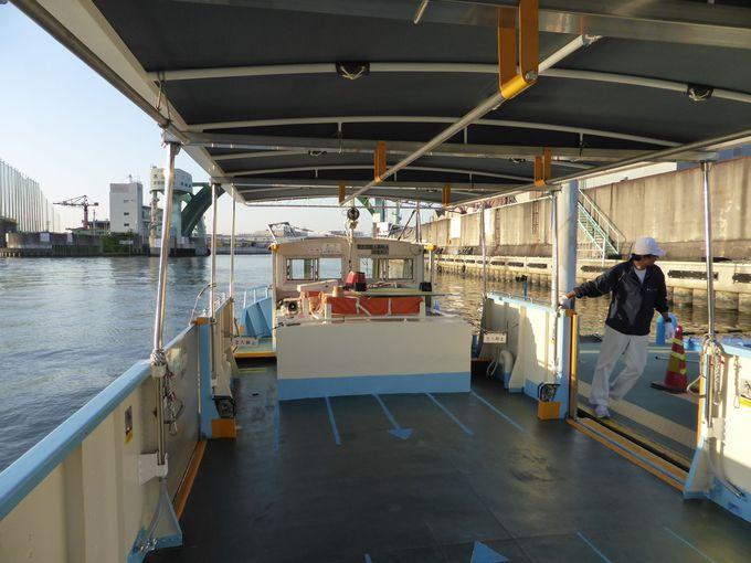 大阪市内に現在も8か所が残っている渡し船