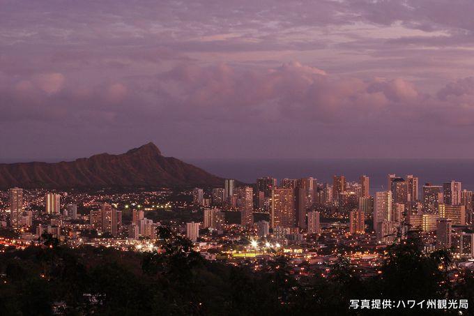 ホノルル100万ドルの夜景を見るなら!「タンタラスの丘」