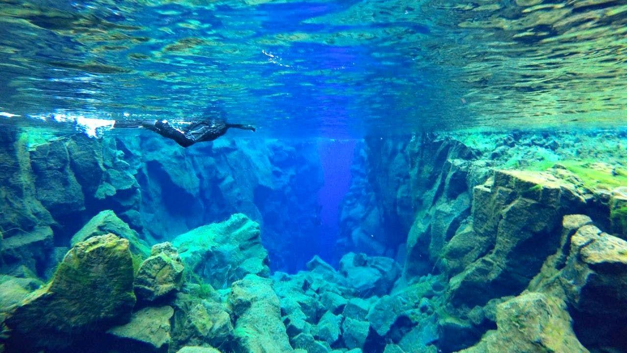 水中で絶景を堪能!地球の割れ目を潜る「シュノーケリング」