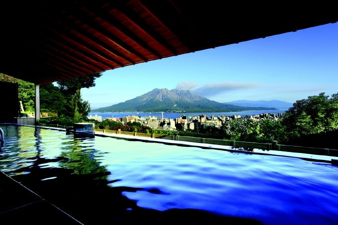 目の前に雄大な桜島!展望露天温泉「さつま乃湯」は2012年リニューアル