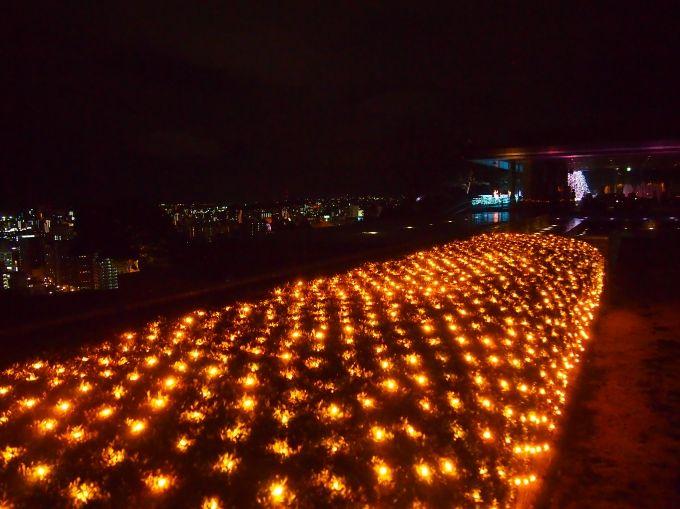 鹿児島の夜景とホテルのライトアップが織りなす、ここにしかない景色!
