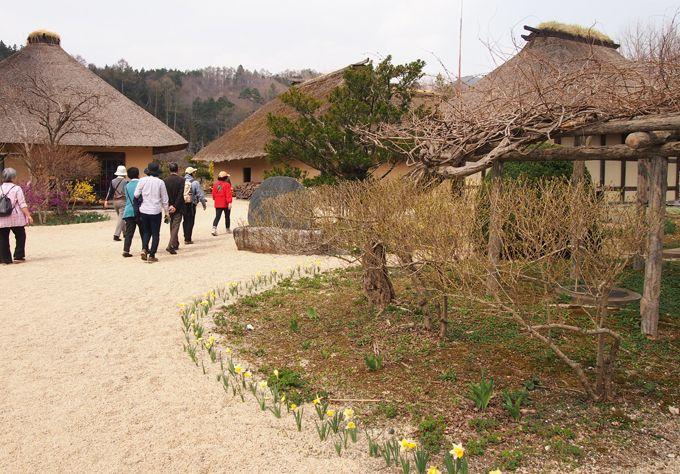 園内には国の重要文化財、最古の南部曲り家「旧菊池家住宅」など移築