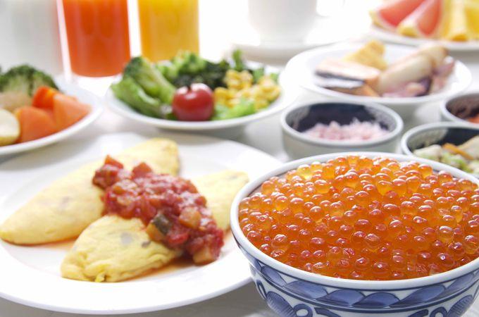 こだわりの朝食バイキング!大人気のイクラ食べ放題!