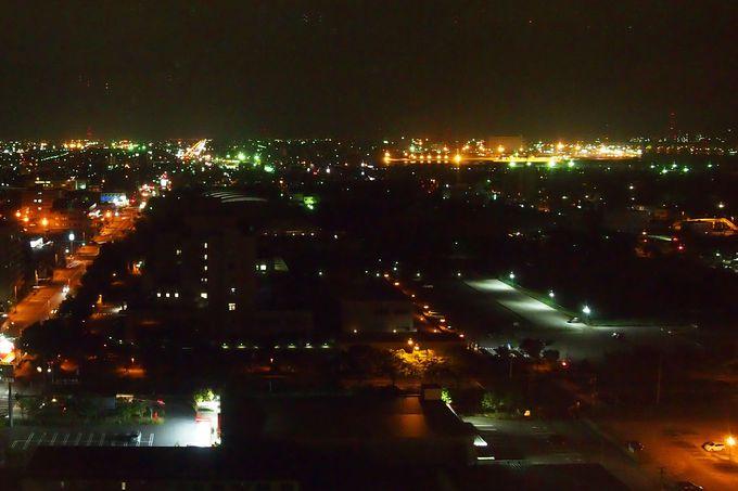 客室からも楽しめる、苫小牧の工場夜景