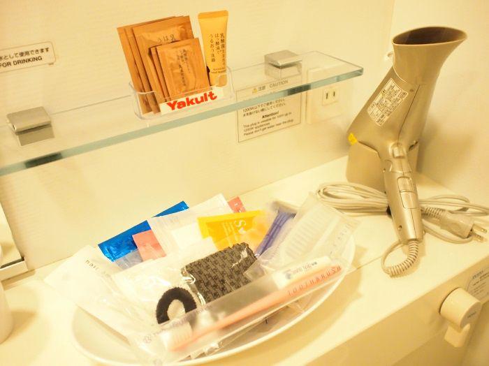 乳酸菌由来の基礎化粧品セットなど、充実のアメニティ