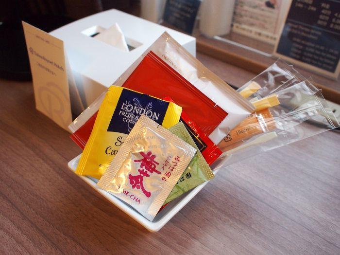 珈琲や紅茶、梅茶など、お茶類も充実!