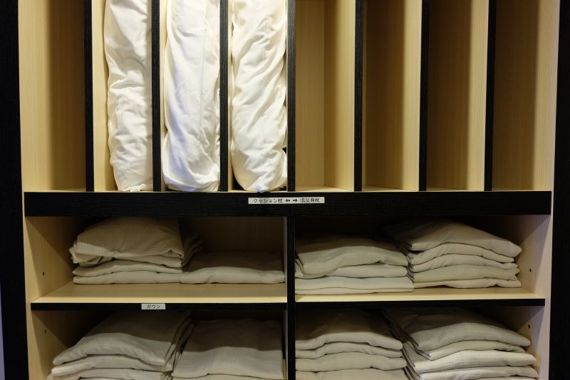 客室アメニティ、選べる枕の貸し出しサービス