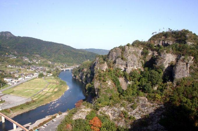 本耶馬渓の上の歩く!競秀峰探勝道からの絶景