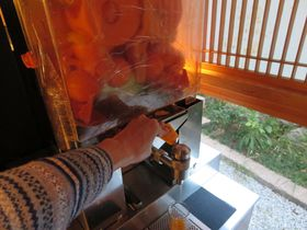 温泉は道後温泉本館で☆新コンセプトの宿「道後やや」で愛媛らしいジュース搾りマシーンを発見!