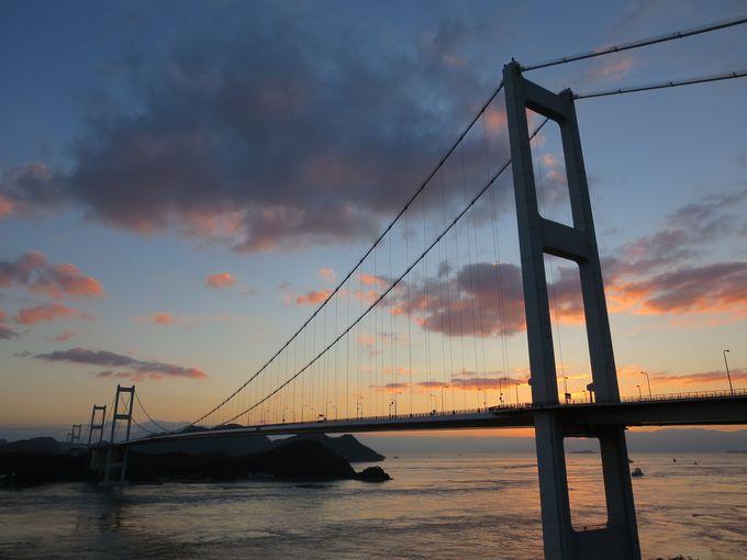 来島海峡大橋の絶景。