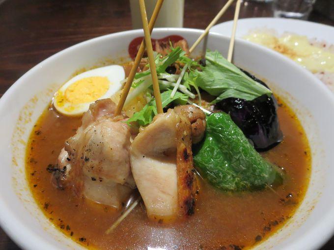 串刺しのスープカレー。