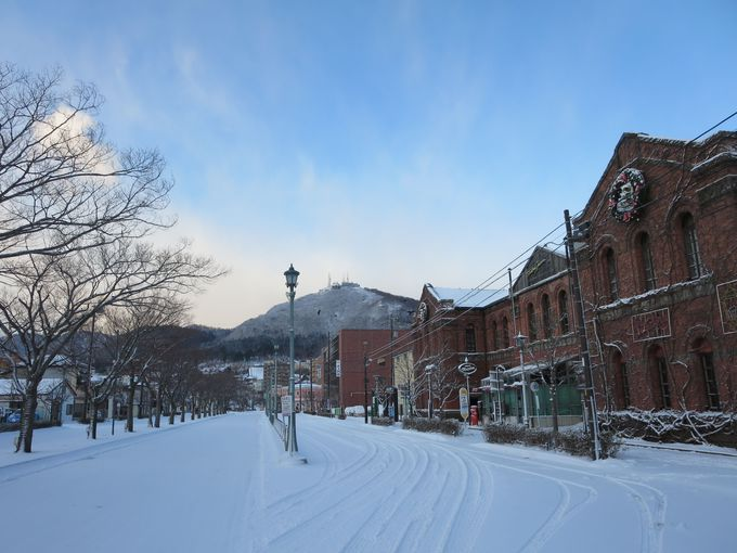 雪の函館。