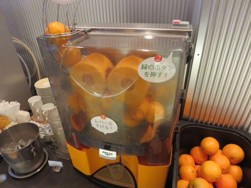 搾りたてオレンジジュースで大興奮!ライブラリーホテル仙台駅前