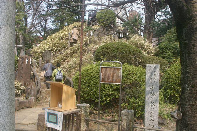 都の指定有形民族文化財「千駄ヶ谷の富士塚」