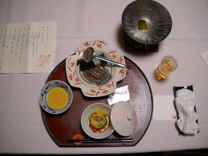 「ゆめつづり」は、部屋で味わえる会席料理がウリ!