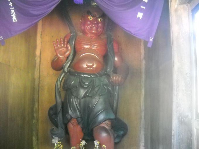 「仁王門」の阿吽像