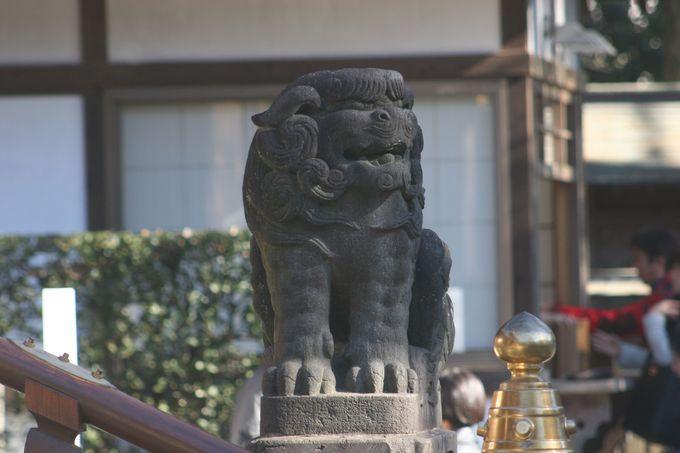威風堂々たる「狛犬」一対で護る