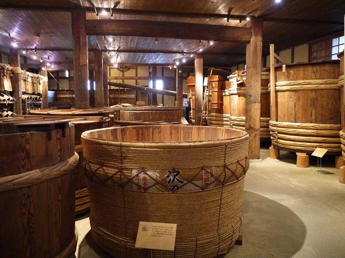 県の重要有形民族文化財でもある「昔の酒蔵」