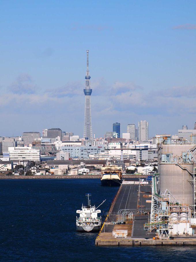 東京近郊の名所を一望できる歩道