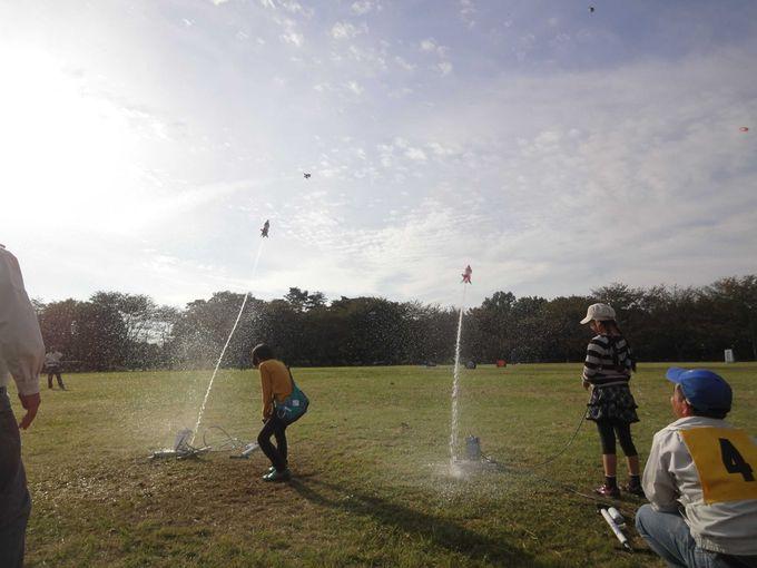 発射!!水ロケット打ち上げ体験