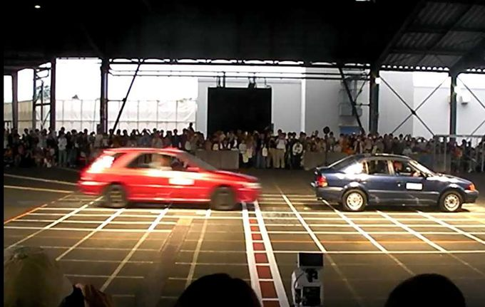 ちょっと刺激的な日本自動車研究所の公開衝突実験