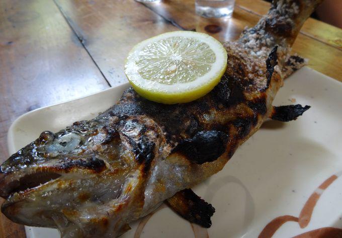 新鮮!絶品!ピッチピチの活魚をその場で炭火焼き