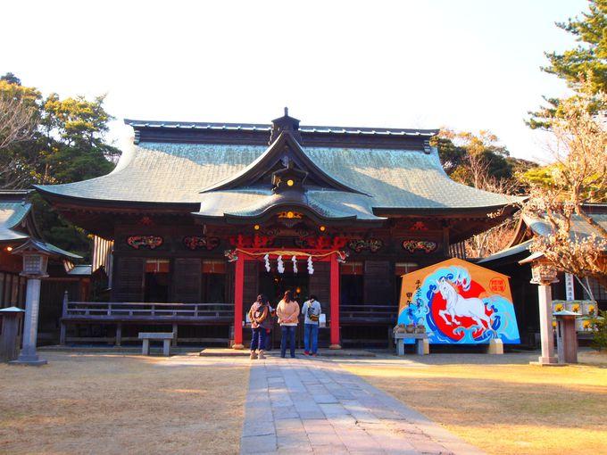 初日の出鑑賞後は、大洗磯前神社への初詣も忘れずに