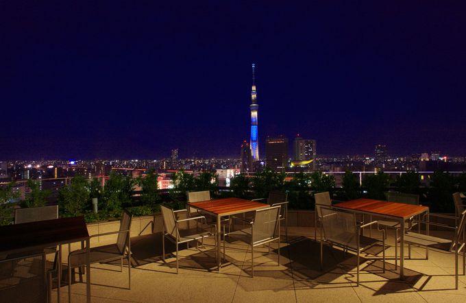 宿泊者限定!!東京スカイツリーと浅草の町並みを眺める屋上テラス