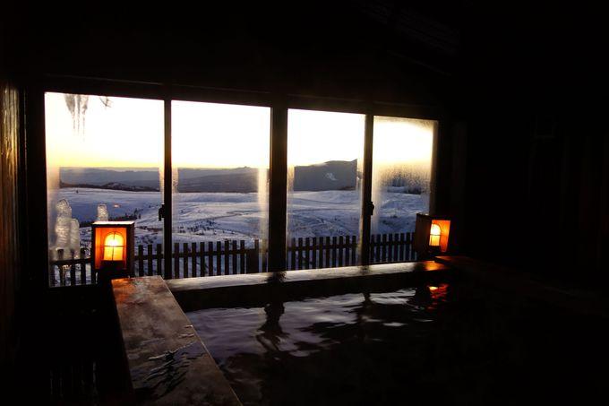 標高2000mの雲上のお風呂で山の景色を堪能♪