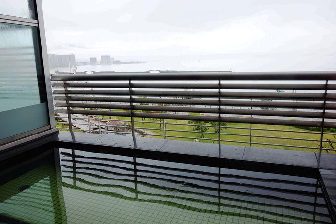 琵琶湖を眺める天然温泉で旅の疲れをリフレッシュ