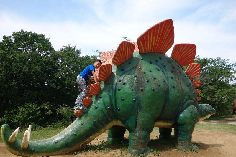 茨城のジュラシックパーク!!実物大恐竜と遊ぶ「水戸市森林公園」