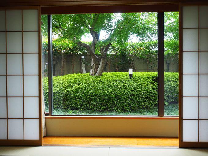 ファミリーにうれしい!!緑が目に優しい庭園付和室