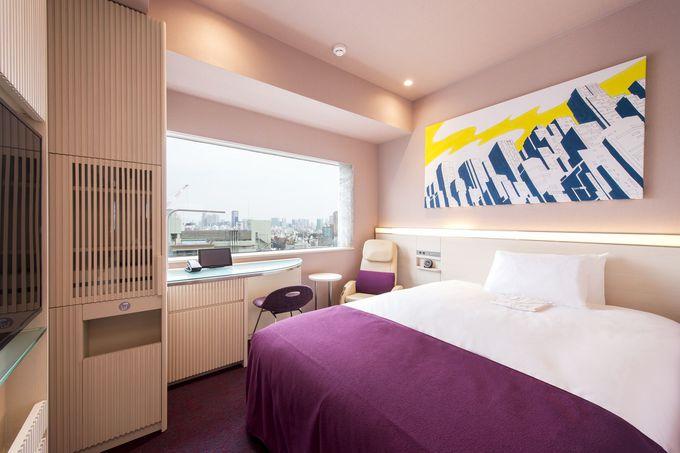 快適な眠りのためにデザインされた客室