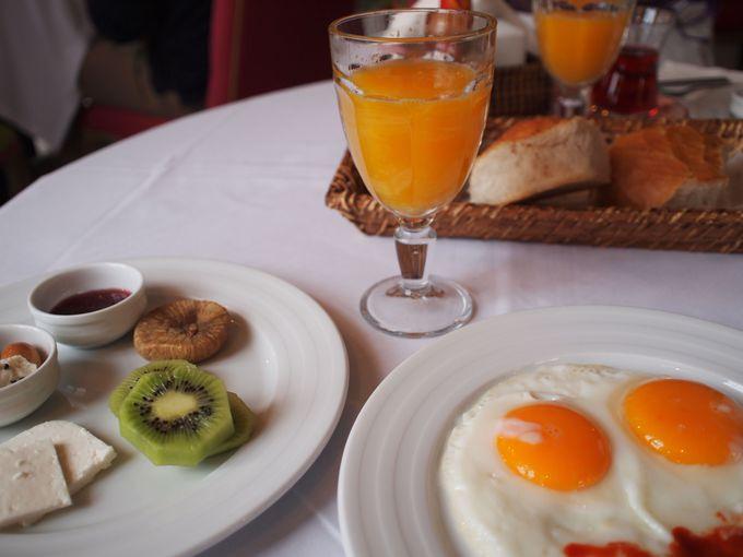 自家製のおいしい朝食
