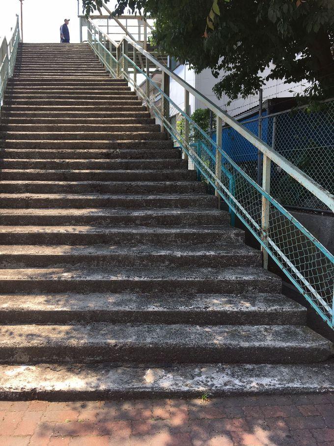 太宰が好きだった場所、当時のままの姿を残す「陸橋(跨線橋)」
