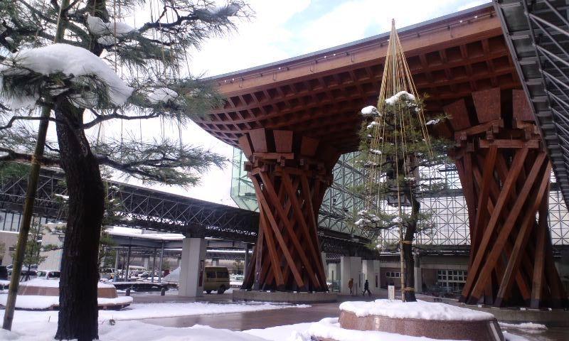 世界で最も美しい駅のひとつに選ばれた JR金沢駅
