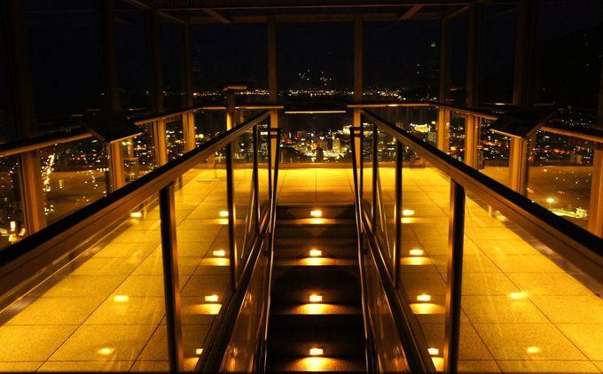 空中に浮かぶガラスの箱から別府を一望!「グローバルタワー」