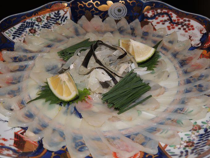「天然とらふぐ・関サバ・城下カレイ」大分三大美食に舌鼓