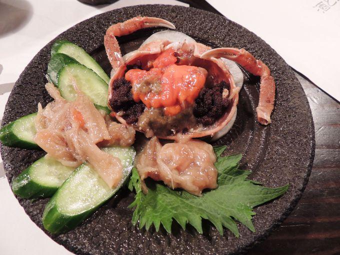 「酒と人情料理 いたる」の珍味《酔っ払い蟹》を食す