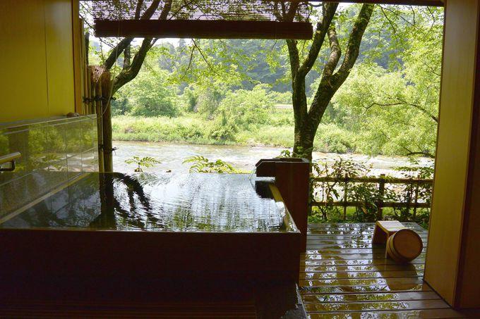 犀川が目の前を流れる露天風呂付き客室「離れ犀川」が最高!